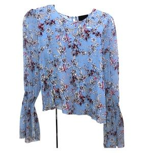 Intermix floral bell sleeve blouse